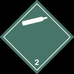 ETIQUETA CLASE 2.2 25x25 cm